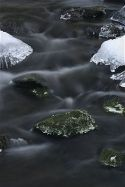 Ice Crystals and Rocks
